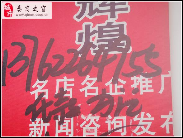[原创]直击秦安县城乱象之一:如此乱写广告令人恶心