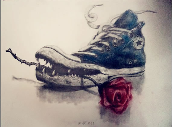 关于鞋子的创意速写