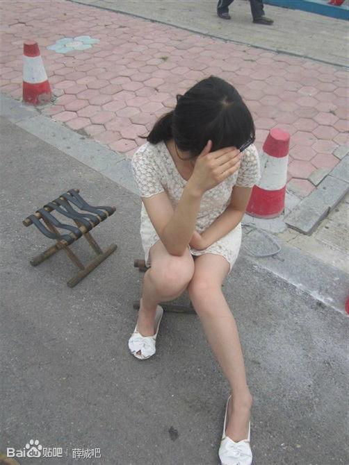 看枣庄妹纸爆腿自拍 美女图片