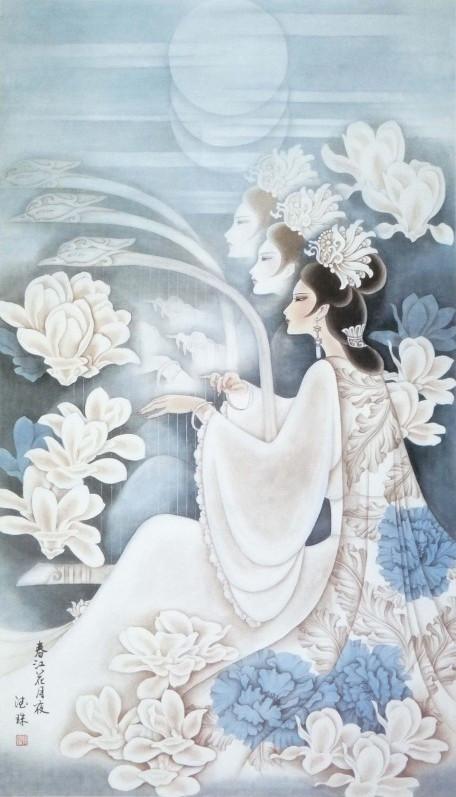韩德珠工笔重彩人物画――――非色情