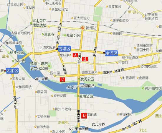 青岛市沈阳路的地图
