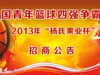 """2013年""""杨氏果业杯""""中国青年篮球四强争霸赛招商公告"""
