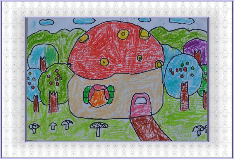 有关家乡美的儿童画 第23张
