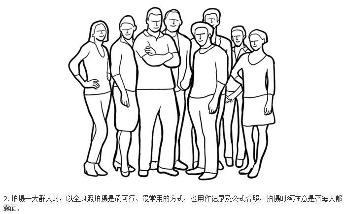 图解21个团体照拍摄姿势