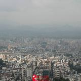 [原创]水坑卓峰山顶拍摄的老隆全景