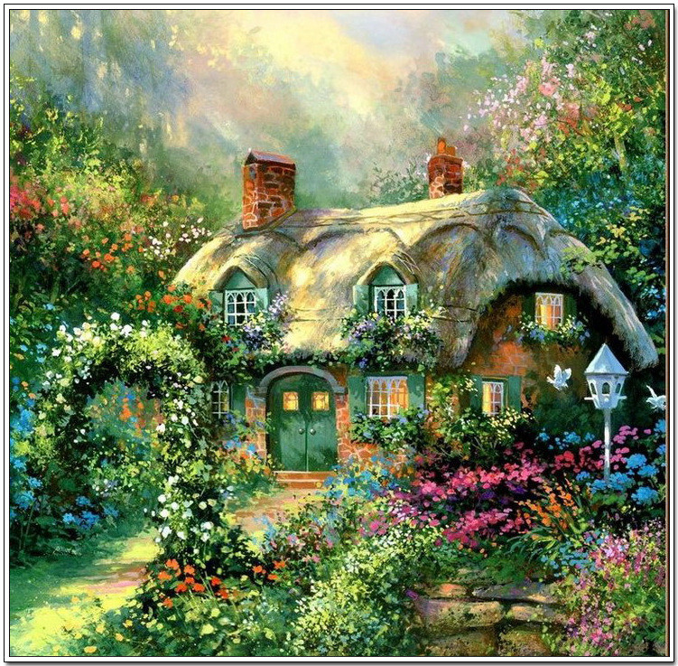 梦幻般的风景油画