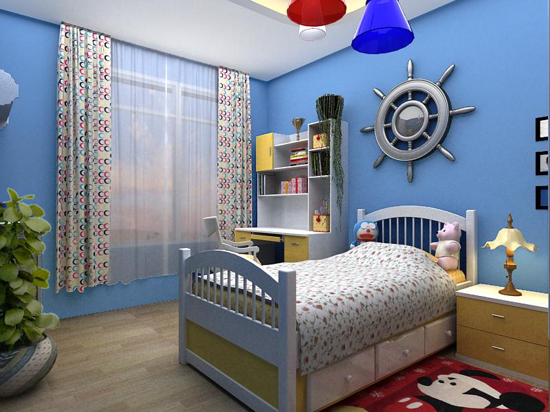 现代男生房间设计图小卧室图片