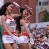 韩国棒球宝贝热舞 明黄超短裙显性感