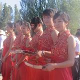 中国张掖2012全国露营大会上的礼仪小姐