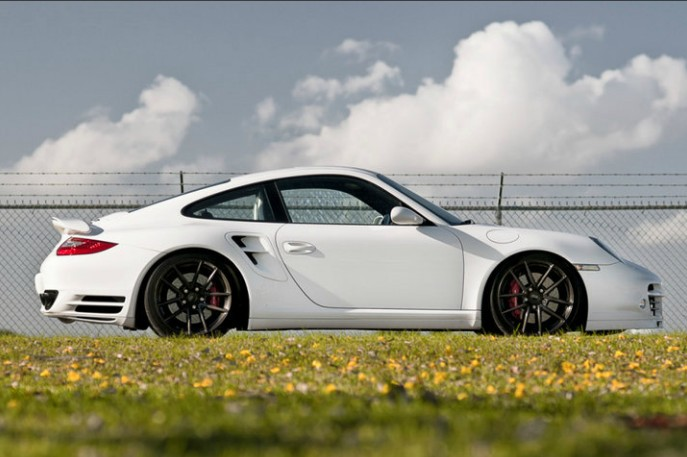 保时捷911Turbo换装ADV.1轮圈
