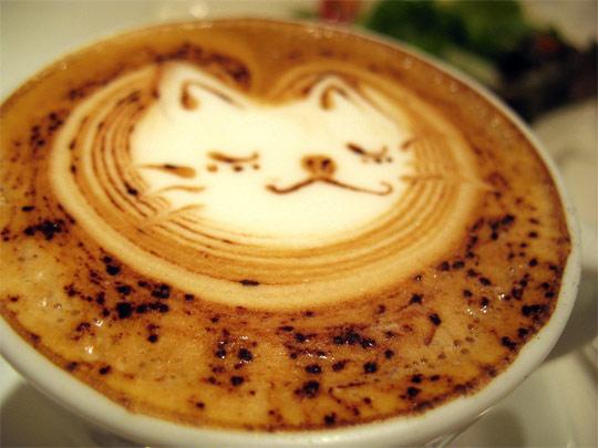 咖啡图案,漂亮与艺术的完美结合。