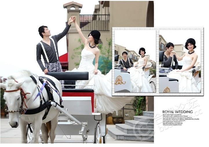 拍完婚纱照,自己设计了版面,也来显显美!