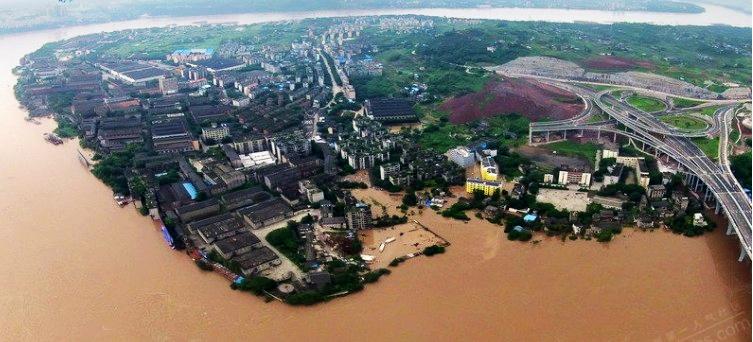 50年罕见泸州洪水