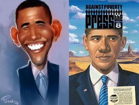 [贴图]恶搞奥巴马图片,漫画奥巴马
