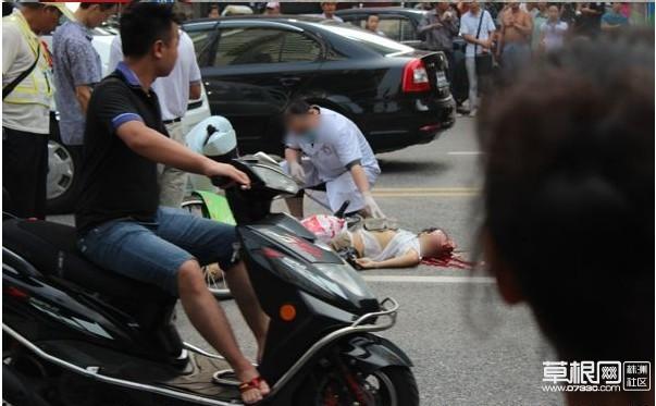 平和堂附近发生惨烈车祸,脑浆都出来了[图]_社