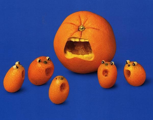 [贴图]搞笑的水果食品艺术系列。秀色可餐哦~