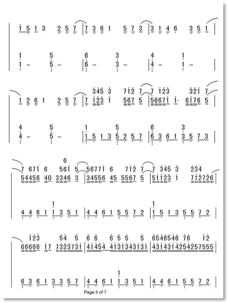 卡农 d调 钢琴简谱