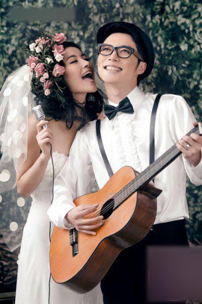 个性的婚纱照更能突出80后的独具风格