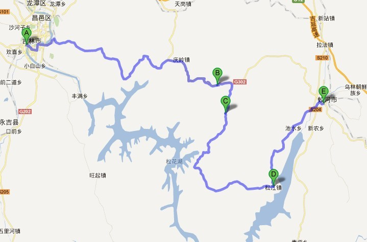 蛟河地图高清版大图