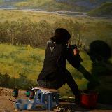 墙体手绘-油画风景
