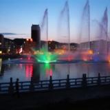 临县夜景*喷泉