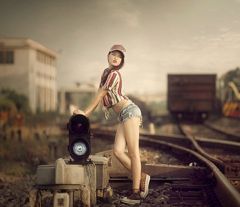 机车与美女