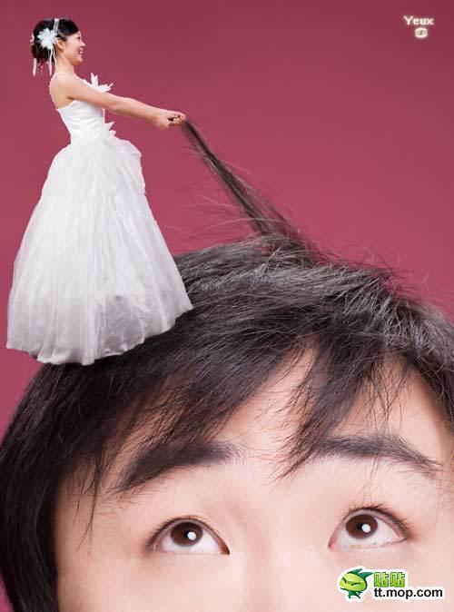 挑战创意,你敢拍这样的婚纱吗?