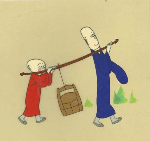 卡通小和尚 木鱼