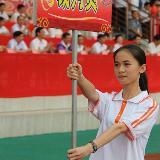 """川中""""表妹""""惊现龙川县运动会开幕式。"""