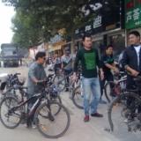 9月22世界无车日睢县骑友进行骑行活动