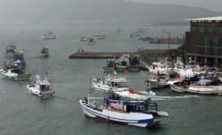 台湾70多艘渔船出发保钓