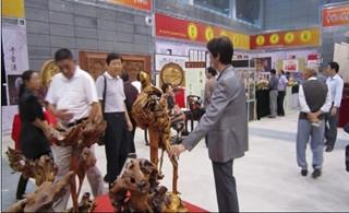 五河根艺作品参展第六届中国(合肥)国际文化博览会