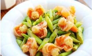 鲜虾芦笋的做法
