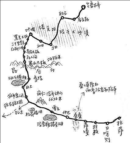 12,新藏线手绘图(网上转载)