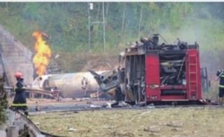 常吉高速槽罐车爆炸3名消防人员牺牲