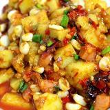 纯正贵州小吃-炒米豆腐 泡椒凉粉