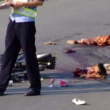 异常惨烈的交通事故现场