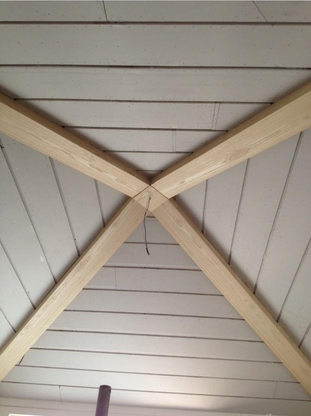 生态木包梁吊顶造型