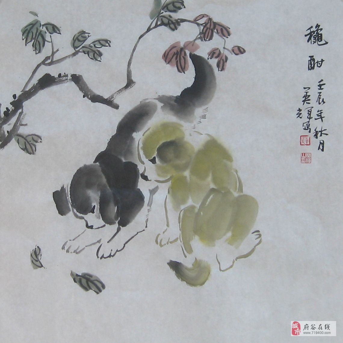 薛英辉动物画作品欣赏