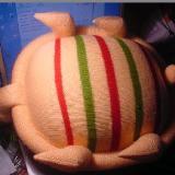 彩色南瓜靠垫、乌龟抱枕的编制方法