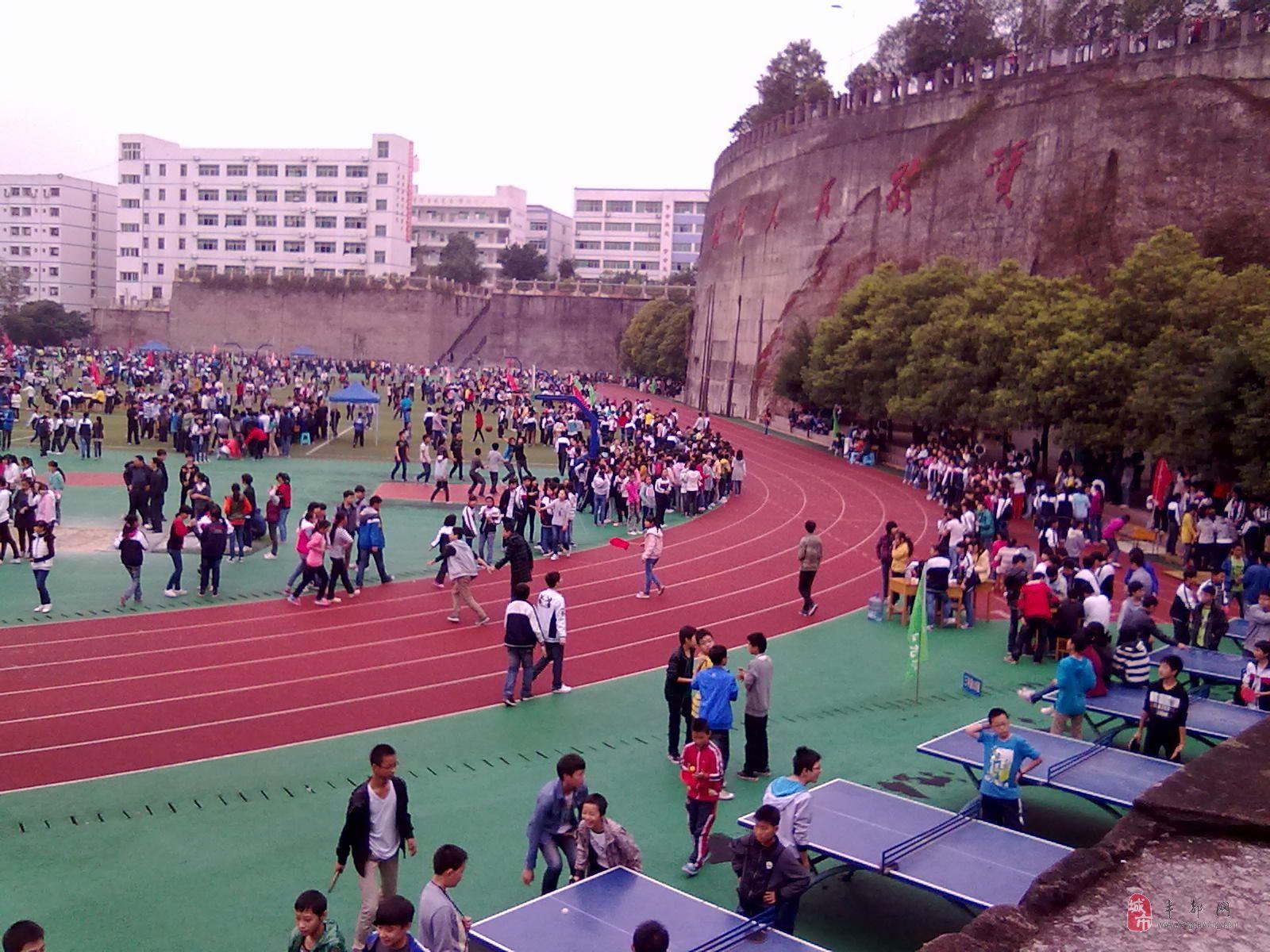 平都中学运动会,风雨无阻!