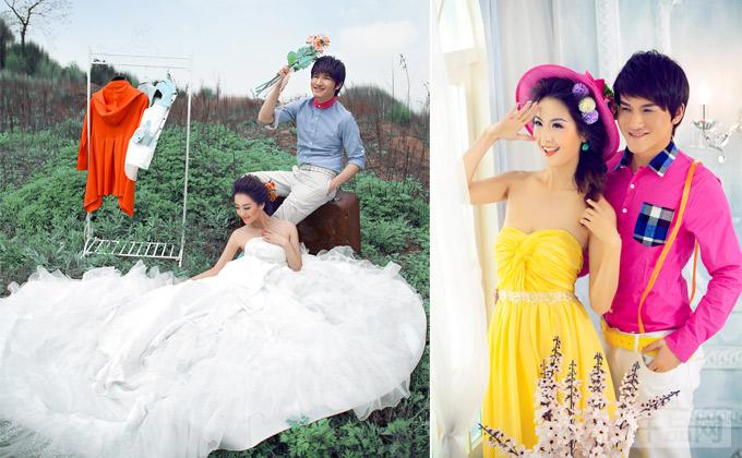 仅2600元尊享金夫人婚纱摄影价值11199元自己的婚纱照套餐!
