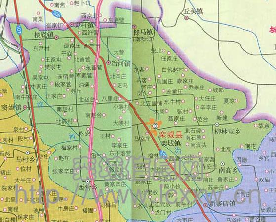 河北省栾城县地图