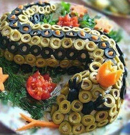 Салаты змейка рецепты с