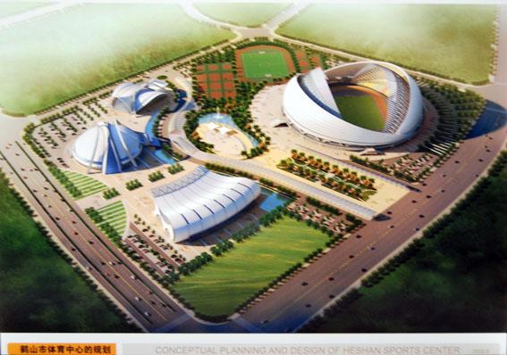 鹤山市新体育中心 - 设计方案