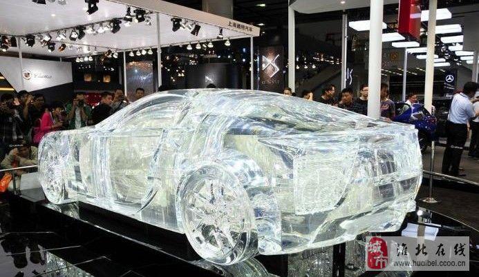 车展上的水晶车,爱车的朋友们来看呀,内部结构清晰可见!
