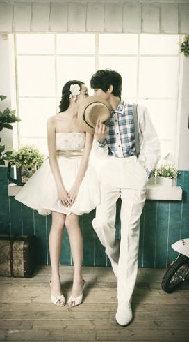日韩婚纱照让你的婚纱照温馨幸福