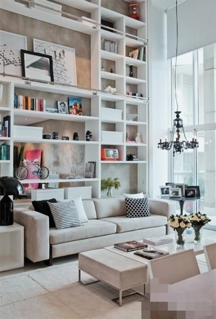 沙发后面的墙就这样设计吧~