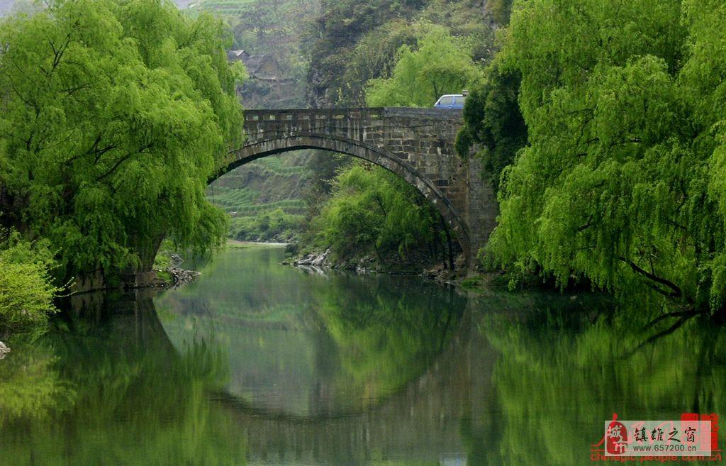 桥剪纸画图案大全简单-桥,有石拱桥 简易木桥 石步 吊桥