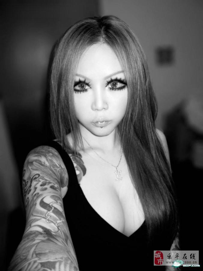 社会霸气姐花臂纹身_社会霸气姐花臂纹身分享展示
